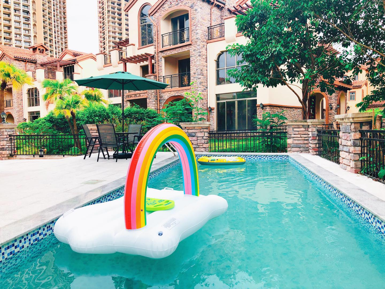 蓝岸1号(704)-惠州市巽寮湾富力湾超大后花园泳池别墅 4房7床